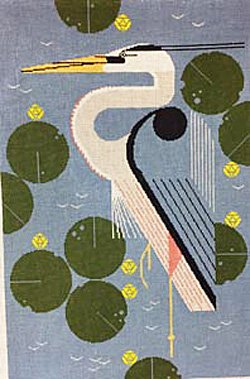 Charley Harper Needlepoint Herondipity