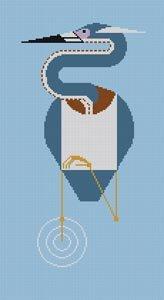 Charley Harper Needlepoint Louisiana Heron