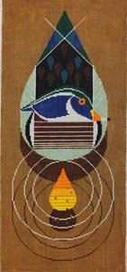 Charley Harper needlepoint Wood Duck