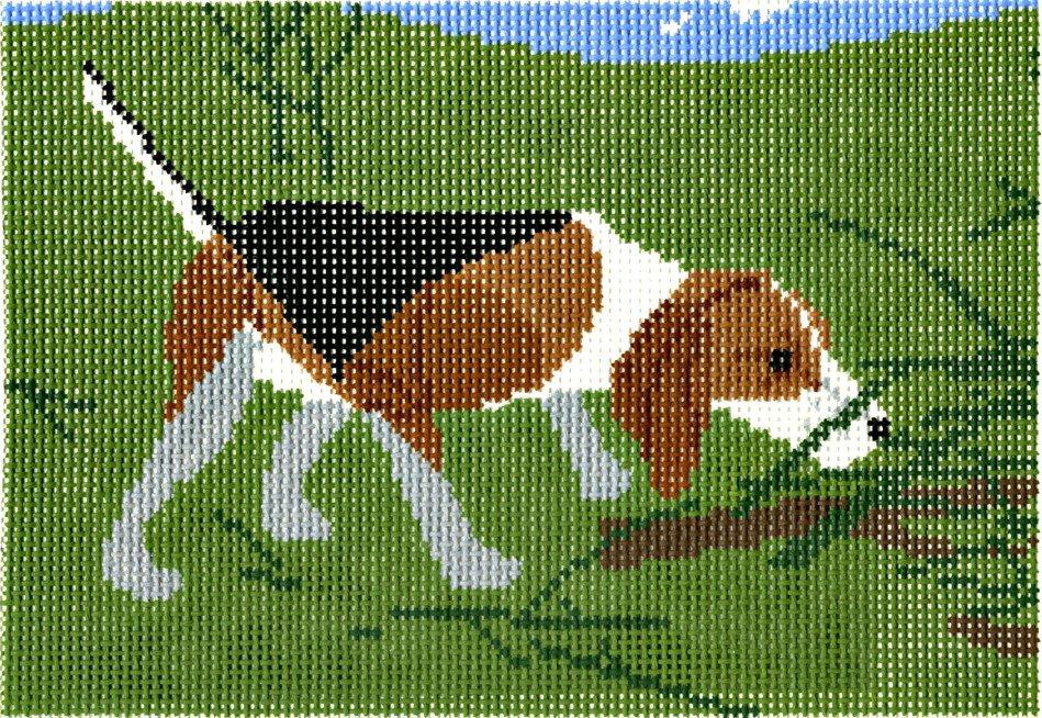 Charley Harper Needlepoint Beagle