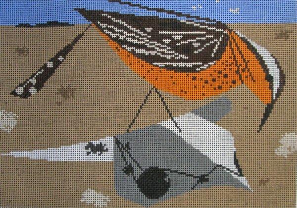 Charley Harper Needlepoint Cactus Wren