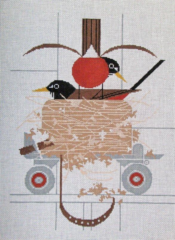 Charley Harper Needlepoint Confiskation