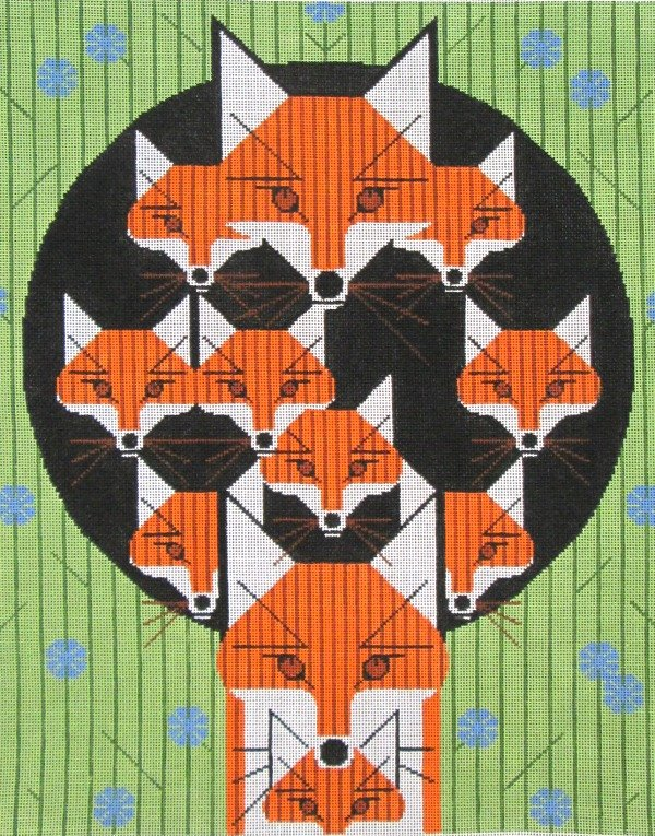 Charley Harper Needlepoint Foxsimilies