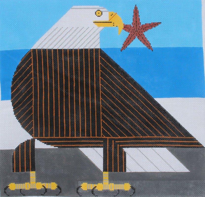 Charley Harper Needlepoint Stars & Stripes