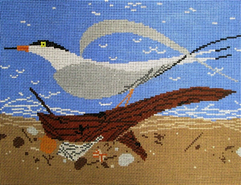 Charley Harper Needlepoint Tern Scape