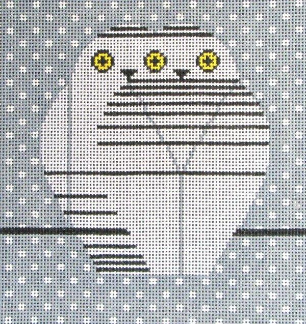 Charley Harper Needlepoint Twowls