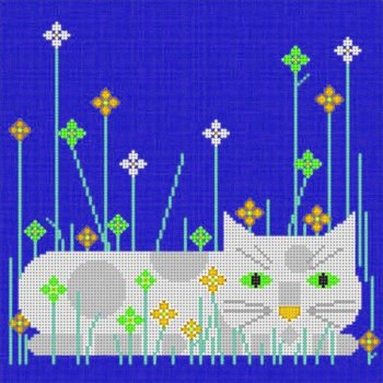 charlie harper calendar cat with different colors