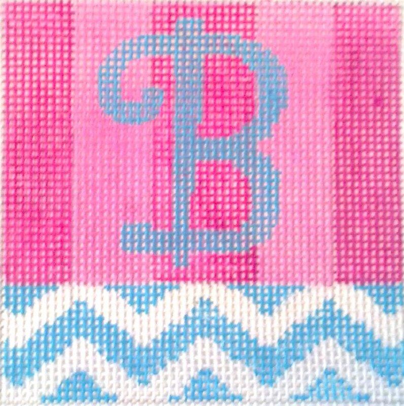 Beth Gantz Needlepoint<BR>Chevron Alphabet