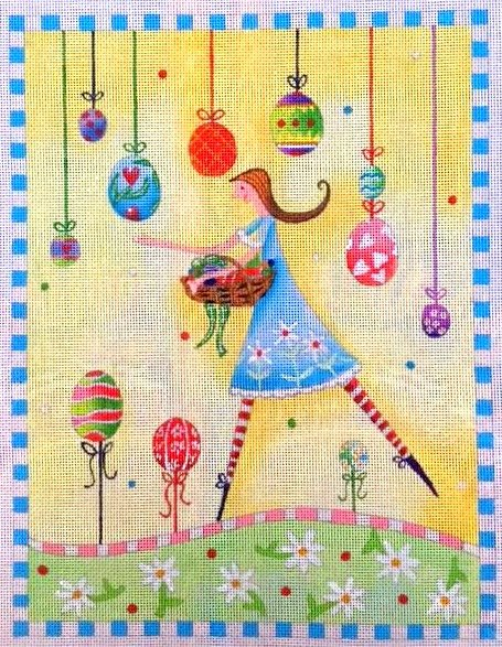 Whimsical Needlepoint Egg Hunt