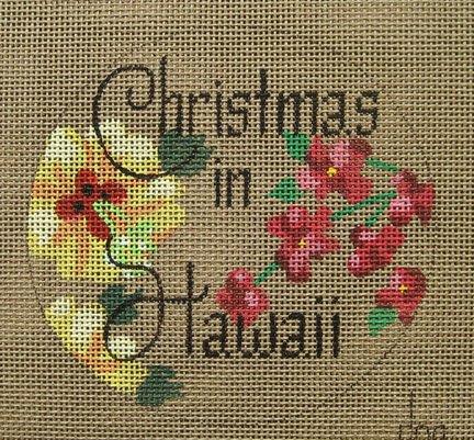 Christmas in Hawaii Needlepoint