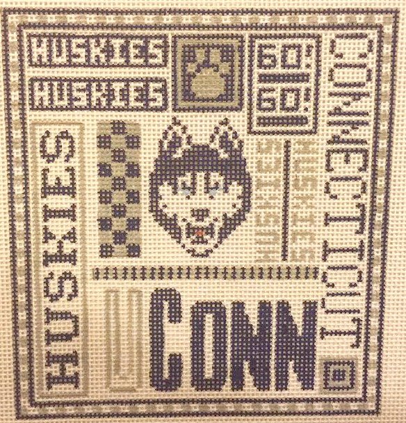 College Needlepoint - Connecticut Huskies