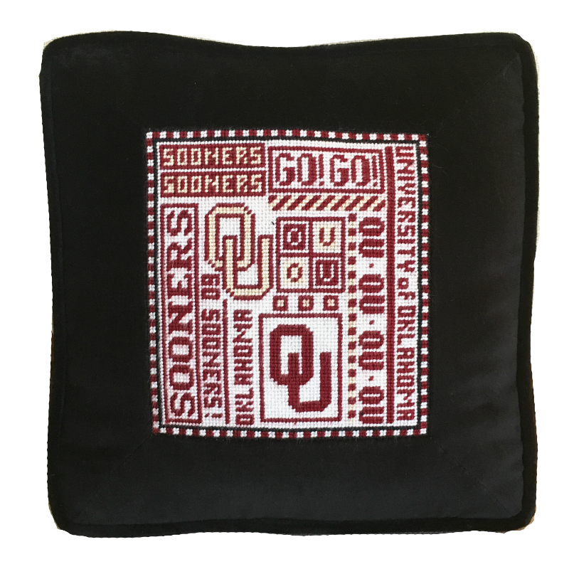 College Needlepoint - Oklahoma