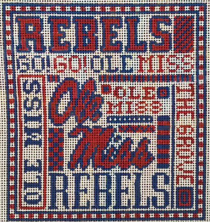 College Needlepoint - Ole Miss