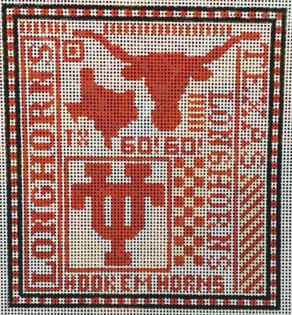 College Needlepoint - Texas Longhorns
