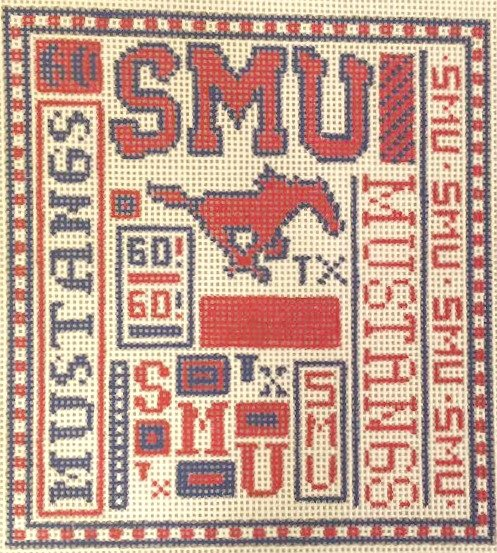 College Needlepoint - SMU