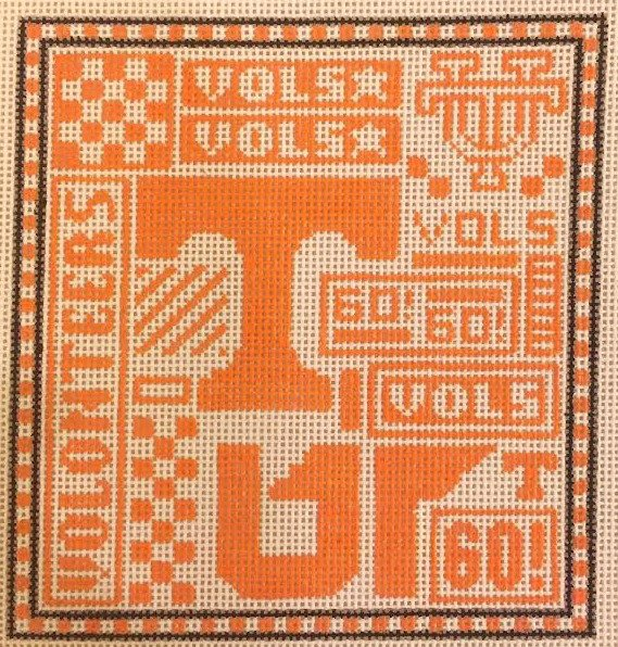 College Needlepoint - Tennessee Volunteers