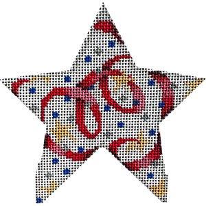Confetti Ribbons star - med.