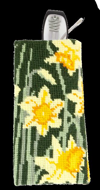Needlepoint Eyeglass or Phone Case Kit Daffodils