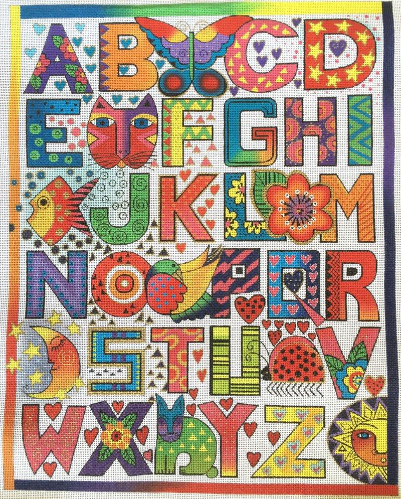 Alphabet Needlepoint By Laurel Burch