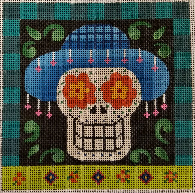 Day of the Dead Halloween Needlepoint