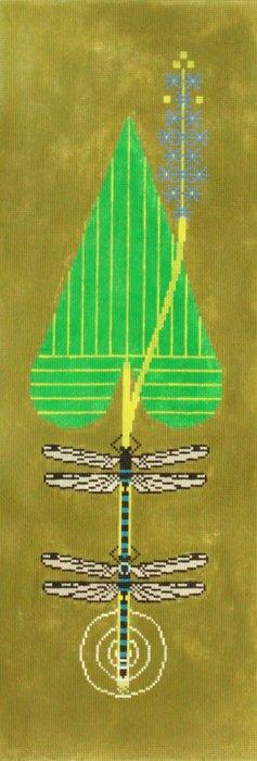 Charley Harper Needlepoint Dragonflies
