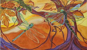 Dragonflies - Morning Flight by JulieMar