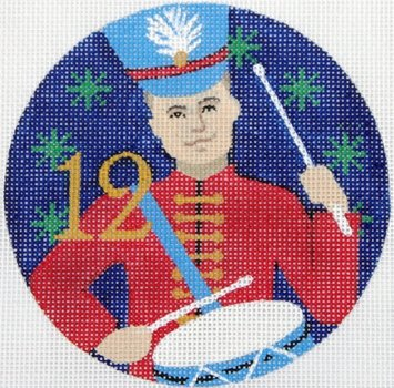 12 Drummers Drumming ornament