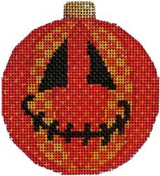 Jack-o-patches Halloween Needlepoint  Ornament