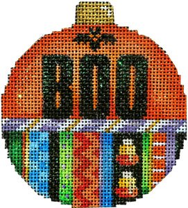 Boo Halloween Needlepoint Ornament