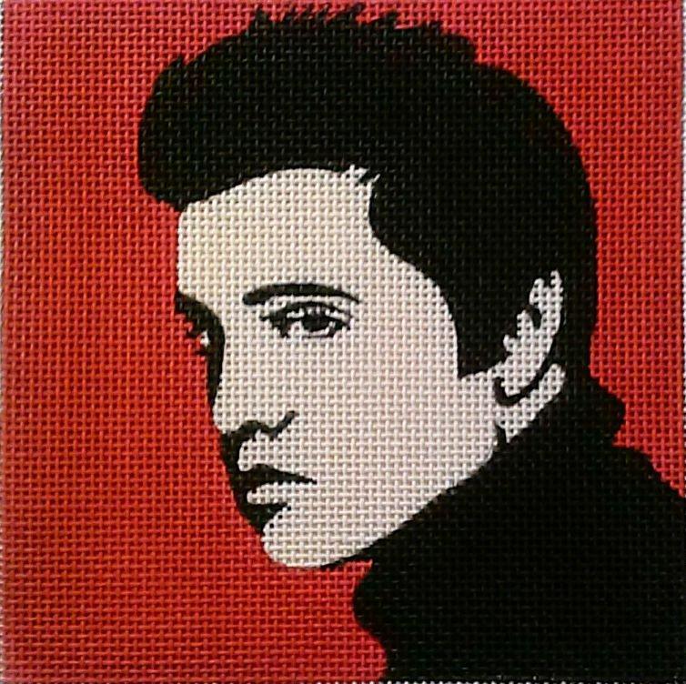 Elvis Pop Art Needlepoint