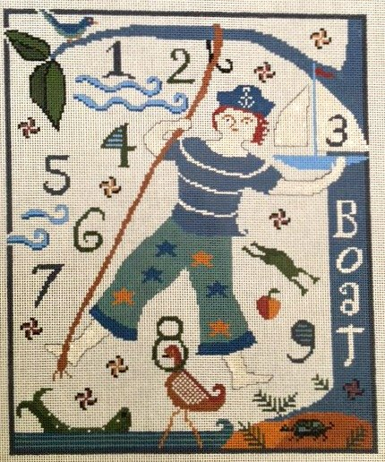Ewe and I Needlepoint Sailor