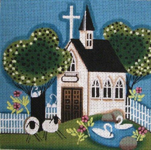Ewe and I Needlepoint<BR>Church