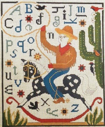 Ewe and I Needlepoint Cowboy