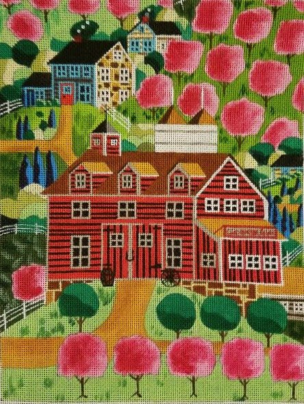 Ewe and I Needlepoint Cherry Bloom Hills