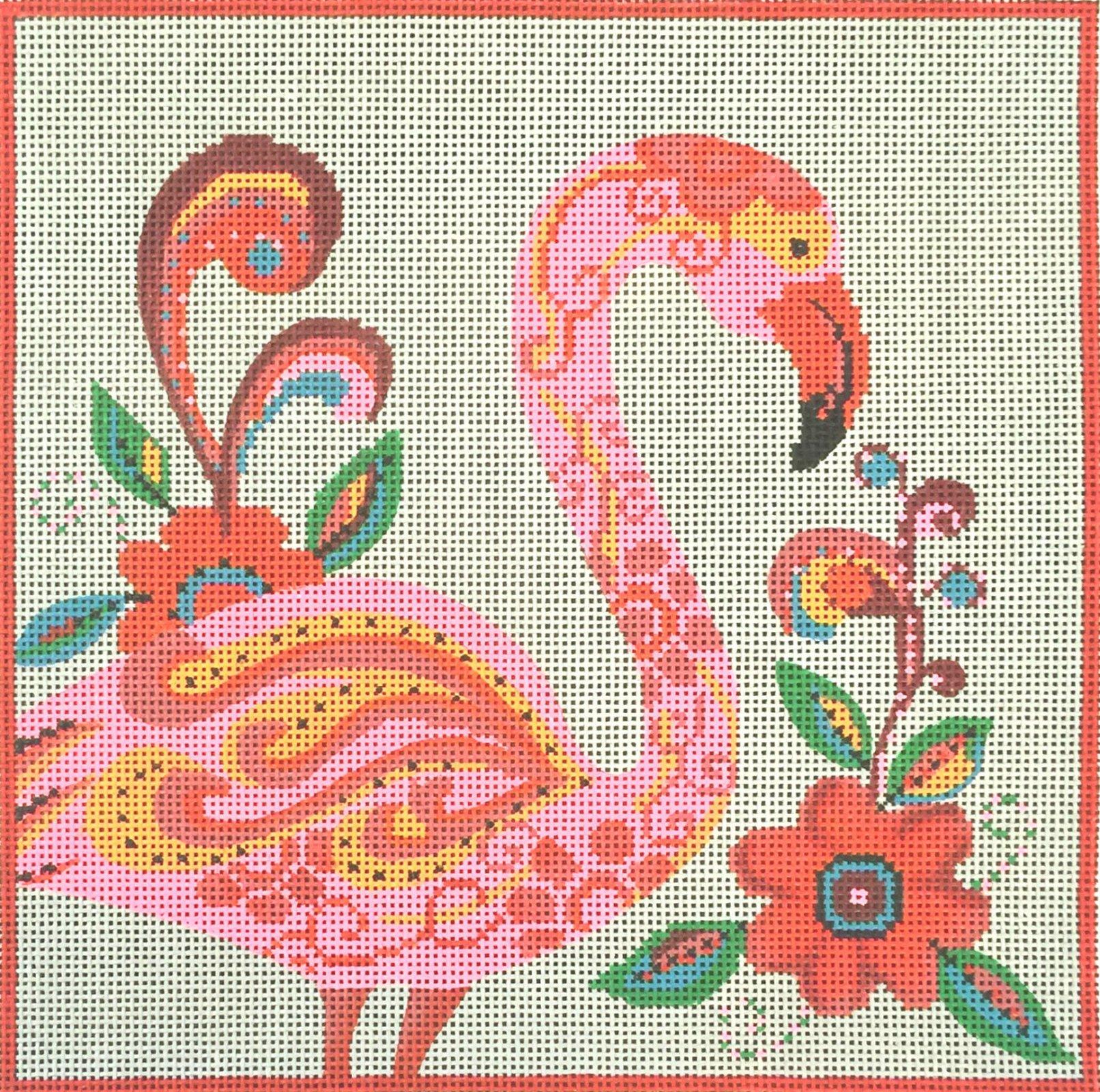 Fancy Flamingo Needlepoint