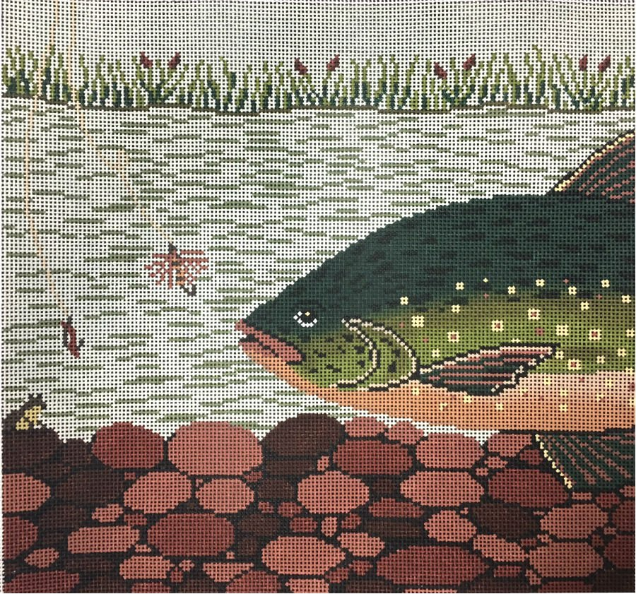 Trout Needlepoint