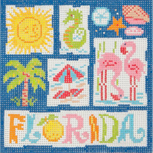 Florida Retro Needlepoint