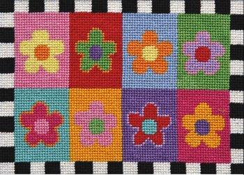 flowers needlepoint kit