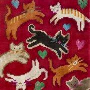 Flying Felines Needlepoint Kit