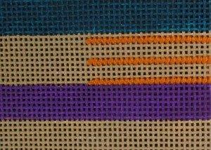 framed scotch stitch how to needlepoint