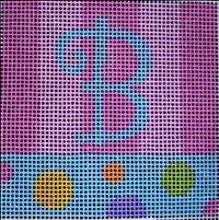 Beth Gantz Needlepoint Bubbles Alphabet in Pink, Blue & multi colors