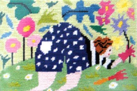 Jennifer Pudney Needlepoint Gardener's Bottom