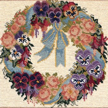 Garland of Pansies tapestry kit by Elizabeth Bradley