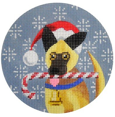 German Shepherd Needlepoint Ornament