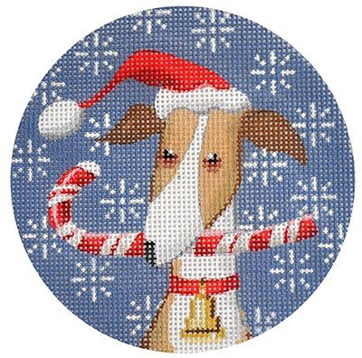 Greyhound Needlepoint Ornament
