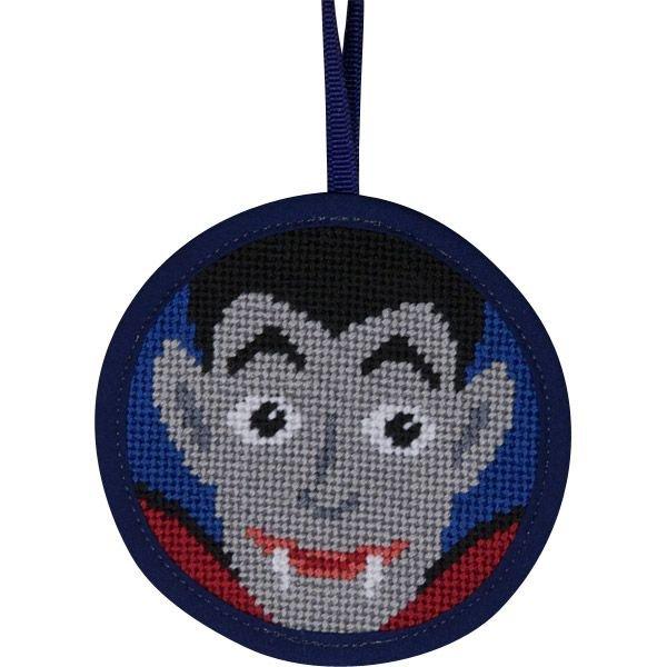 Halloween Needlepoint Ornament Dracula