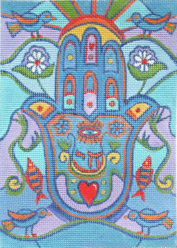 Hamsa Needlepoint Eye of God