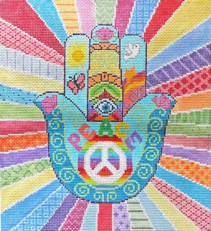 Hamsa Needlepoint Peace