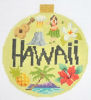 Hawaii Needlepoint Ornament