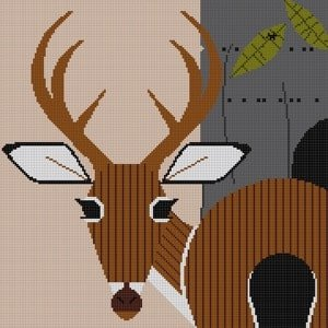 Charley Harper Needlepoint Key Deer